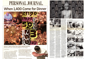 Wall Street Journal – When 1,400 Come for Dinner